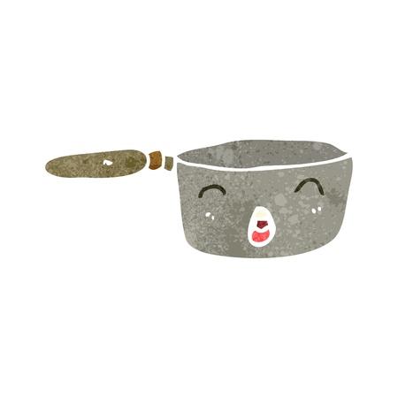 bubbling: retro cartoon kitchen pan