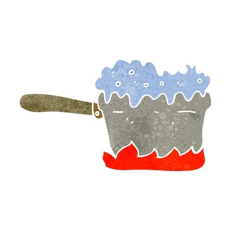 cartoon kitchen: retro cartoon kitchen pan