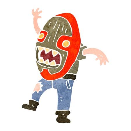 maschera tribale: retro del fumetto uomo in maschera tribale