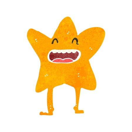 estrella caricatura: retro personaje de dibujos animados estrella