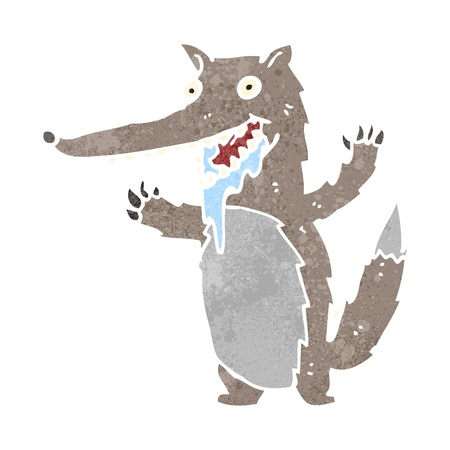 drooling: retro cartoon wolf Illustration