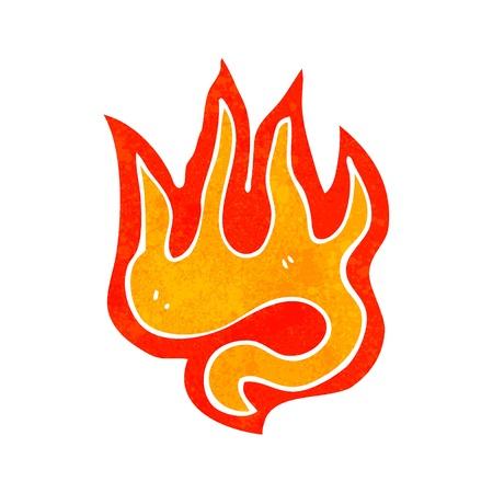 cartoon fire: retro cartoon fire Illustration