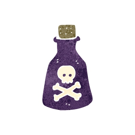 retro cartoon poison bottle Vector
