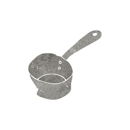 saucepan: retro cartoon saucepan