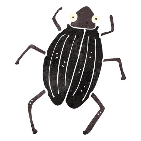 retro cartoon beetle Vector