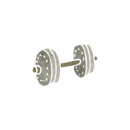 dumbell: retro cartoon weight