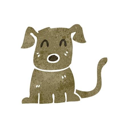 retro cartoon hond Stock Illustratie