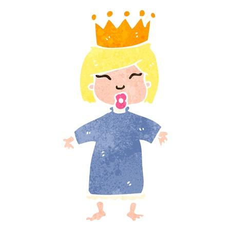 retro cartoon spoiled princess