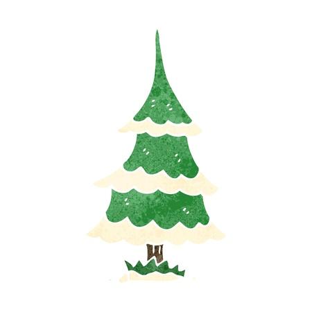 retro cartoon christmas tree