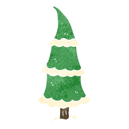 retro cartoon christmas tree Vector