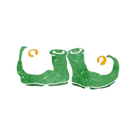 botas de navidad: retro de dibujos animados de Navidad botas