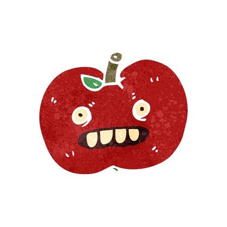 bad apple: retro cartoon bad apple Illustration