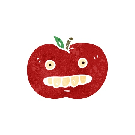 retro cartoon bad apple Vector