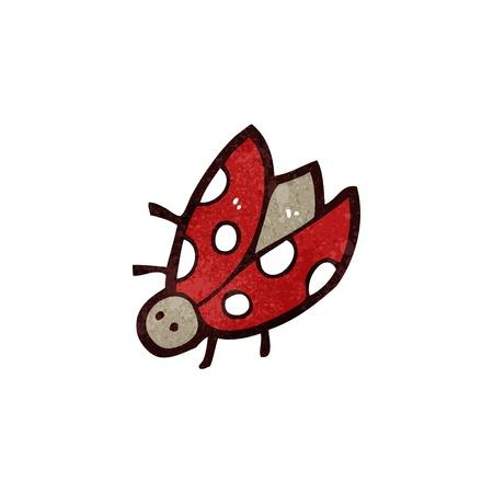 retro cartoon ladybug Vector