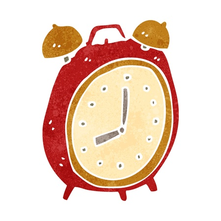 retro cartoon alarm clock 矢量图像