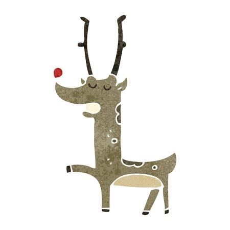 retro cartoon reindeer
