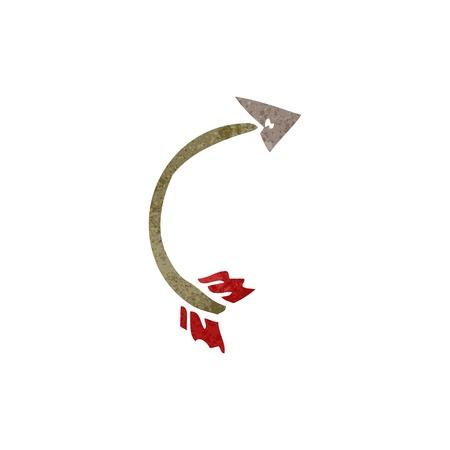 retro cartoon bent arrow