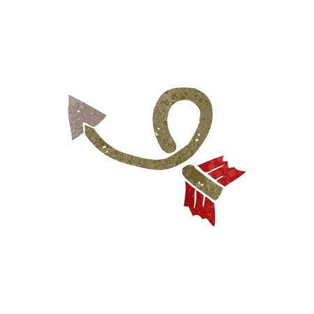 retro cartoon bent arrow Vector