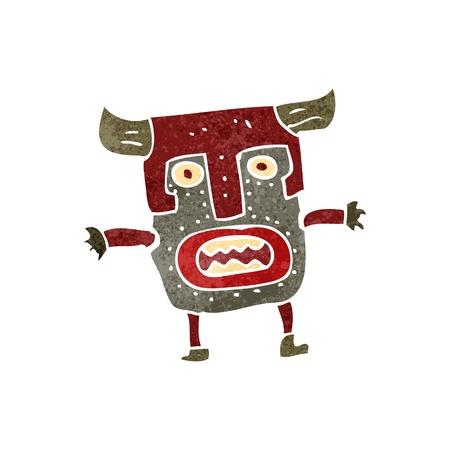 maschera tribale: retro del fumetto maschera tribale uomo
