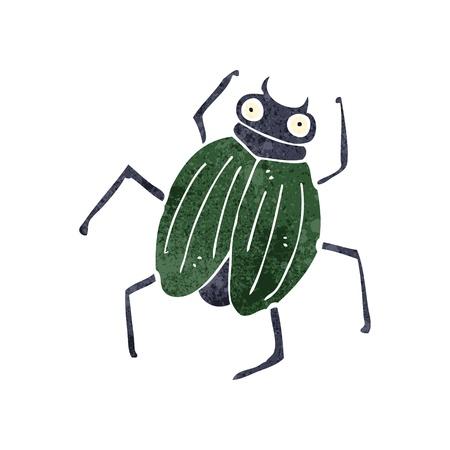 retro cartoon insect Vector