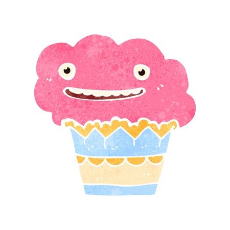 retro cartoon cupcake Vector