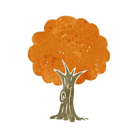cartoon trees: retro cartoon tree