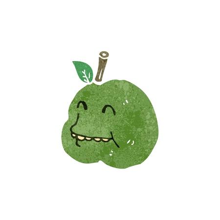 bad apple: retro cartoon ugly apple