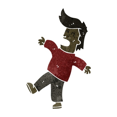 retro cartoon fainting man Vector Illustration