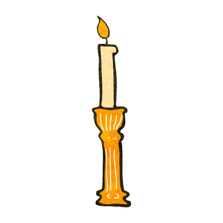 retro cartoon candlestick Vector