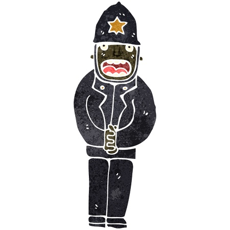 retro cartoon policeman Vector