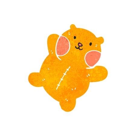 cute teddy bear: retro cartoon cute teddy bear Illustration