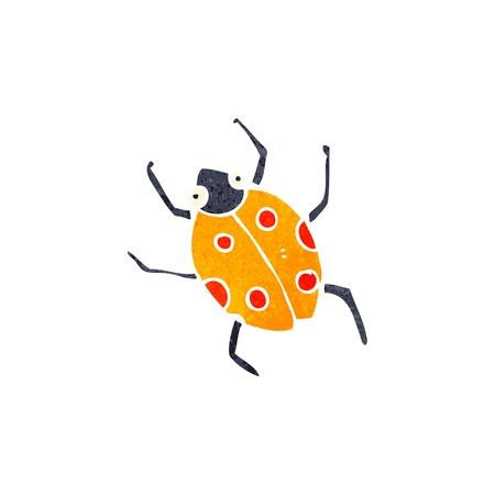 retro cartoon bug Vector