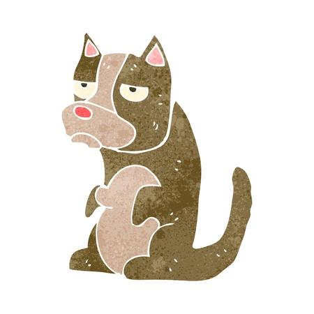 grumpy: retro cartoon grumpy dog