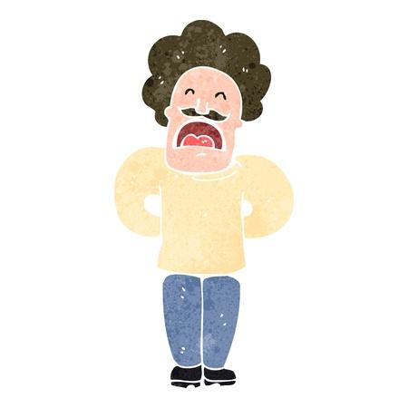 arrogant: retro cartoon arrogant man Illustration