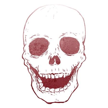 retro skull stencil Stock Vector - 22188318