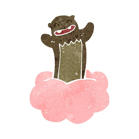 retro cartoon bear on cloud Stock Vector - 22188326