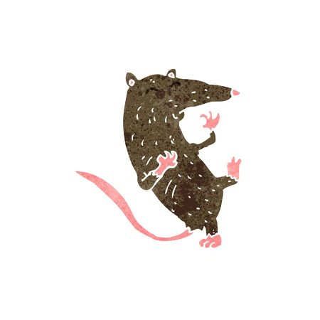 retro cartoon rat Stock Vector - 22188329