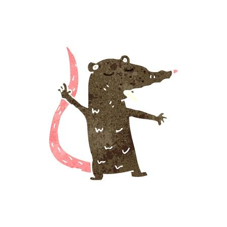 retro cartoon rat Stock Vector - 22188330