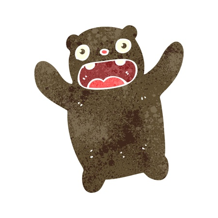 retro cartoon teddy bear Stock Vector - 22188333