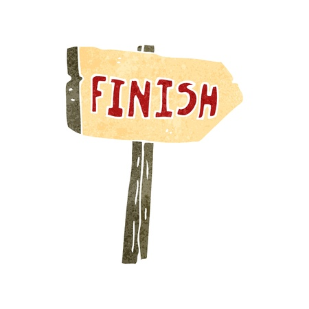 retro cartoon finish sign Stock Vector - 22188334