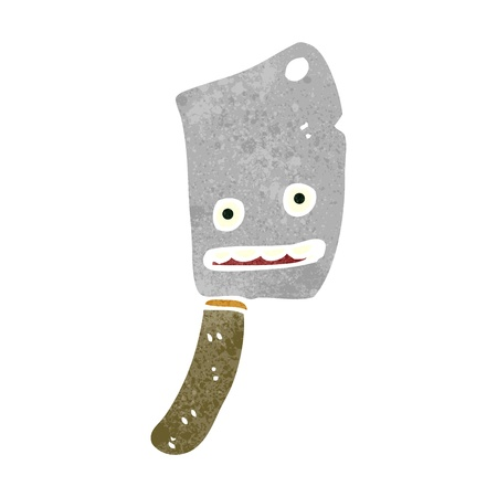 retro cartoon meat cleaver Vector