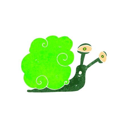 retro cartoon magic snail Stock Vector - 22188343