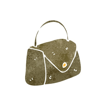 retro cartoon handbag Stock Vector - 22188348