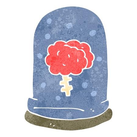 retro cartoon brain in jar Stock Vector - 22188361