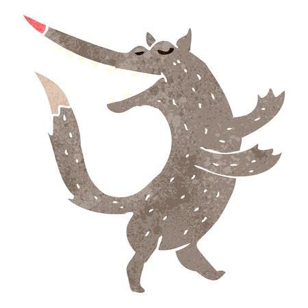 retro cartoon happy wolf Illustration