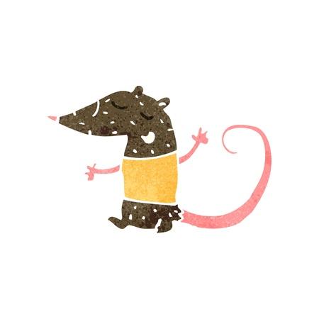 cartoon rat: retro cartoon rat