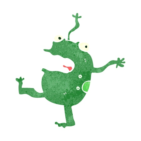 retro cartoon frog Vector