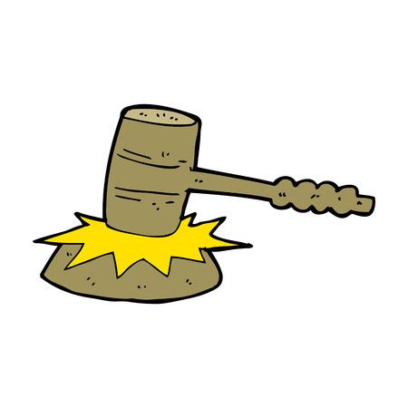 banging: caroton gavel banging Illustration