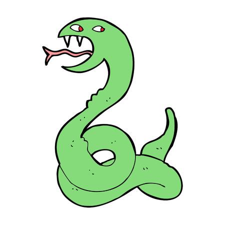 hissing: fumetto sibilo del serpente Vettoriali