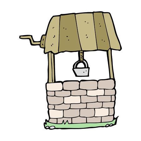 dibujos animados pozo de los deseos